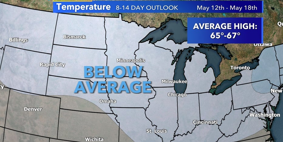 Cooler weather settles in Wisconsin through mid-May