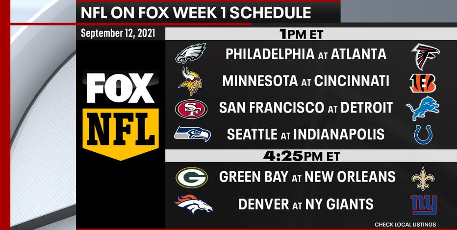 NFL week 1: Packers, Saints featured in doubleheader on FOX