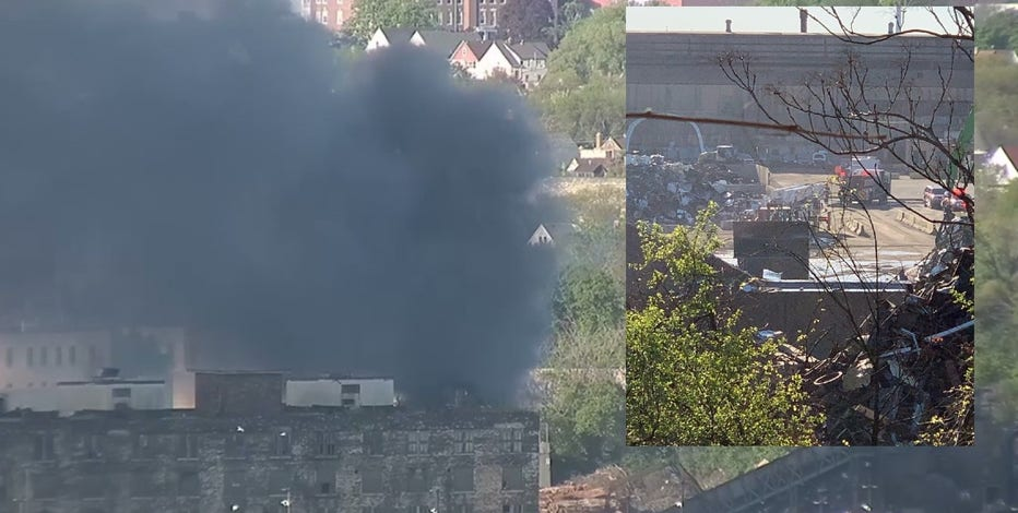 Milwaukee recycling fire, no injuries reported
