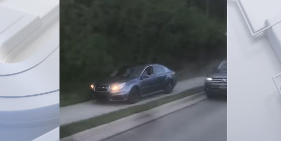 Reckless driver on sidewalk, sought by Milwaukee County deputies