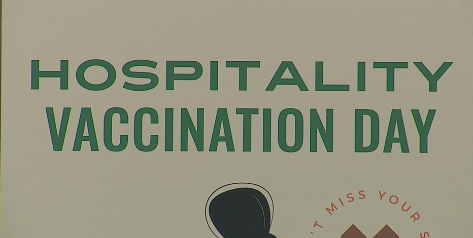 Vaccine clinic for restaurant, hotel workers at Wisconsin Center