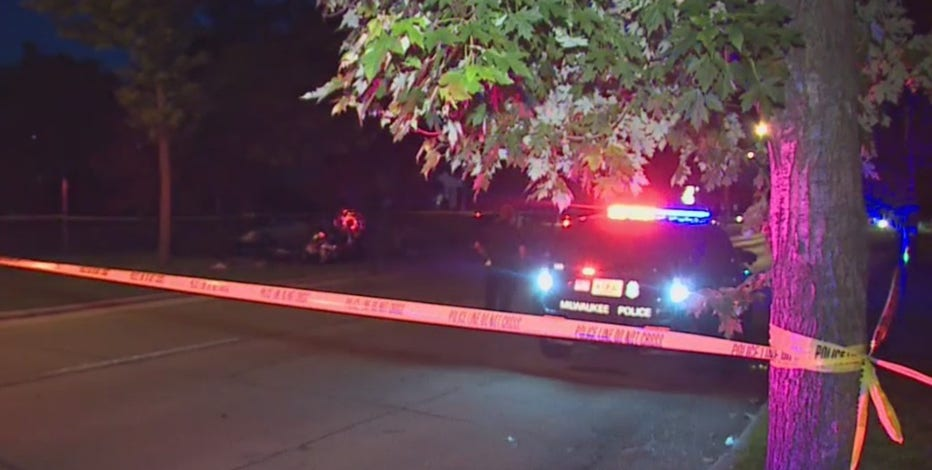 Police pursuit in Brookfield; motorcyclist strikes tree, in critical condition