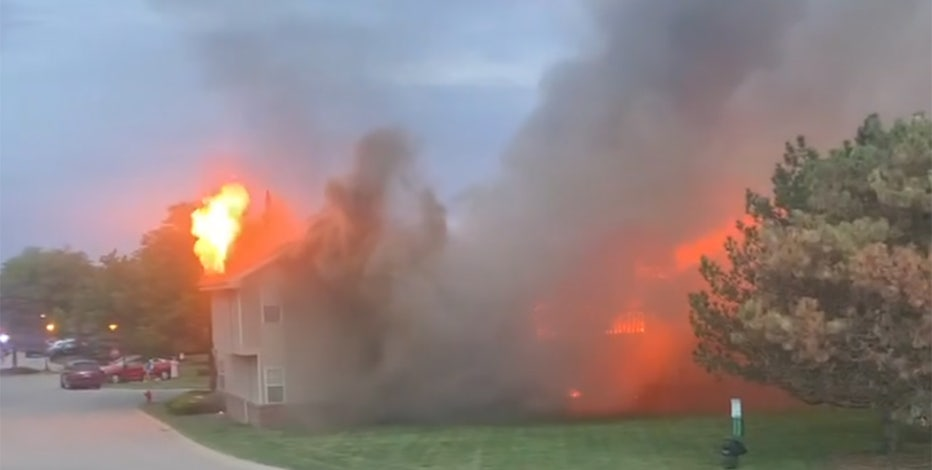 Hales Corners apartment fire: 1 building a total loss, no injuries