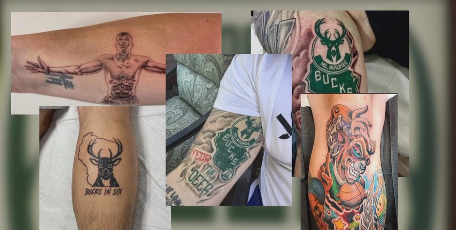 Bucks tattoos celebrate championship win for some fans