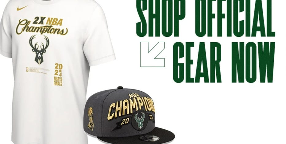 Bucks official championship merchandise available at Bucks Pro Shop