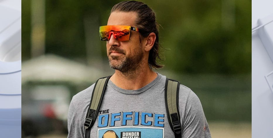 Aaron Rodgers in Green Bay for start of training camp