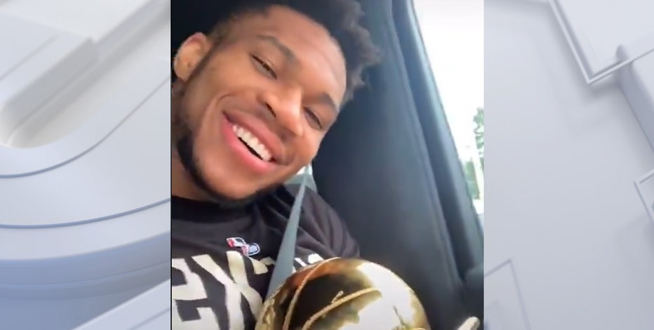 Giannis celebrates NBA title, visits Chick-fil-A for nuggets