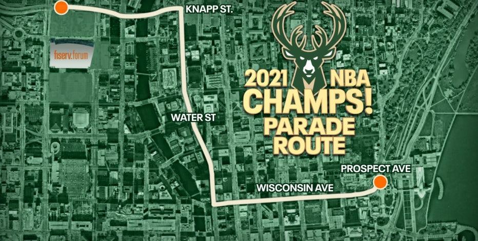 Milwaukee Bucks NBA Championship parade route, time revealed