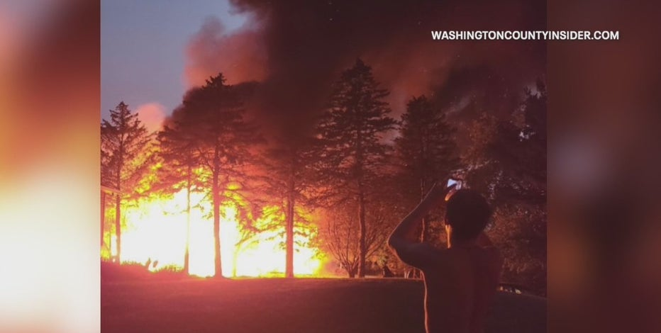 Explosion, house fire near West Bend, 2 severely injured