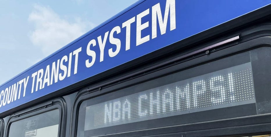 MCTS celebrate Bucks victory, display special message on every bus