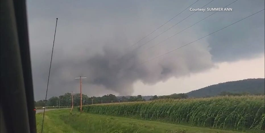 Tornado near Boscobel, no injuries reported