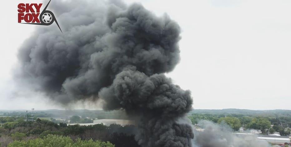5-alarm Fort Atkinson fire prompts evacuations