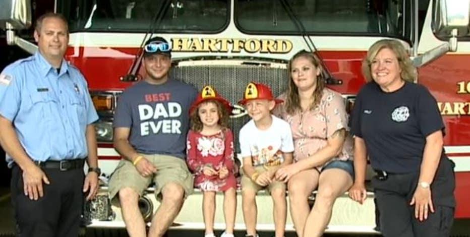 Hartford child saves mom's life