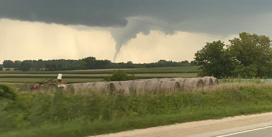 Tornado reported in Outagamie County Tuesday evening