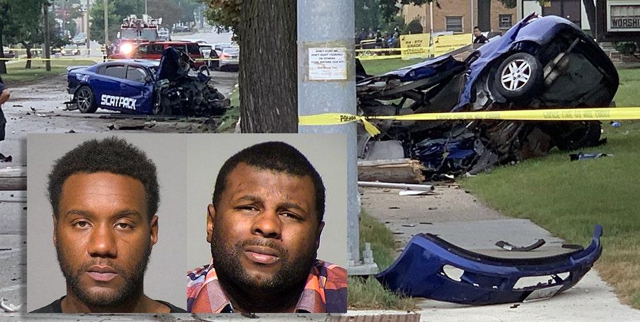 Milwaukee street race, fatal crash; 2 men charged
