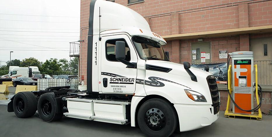 Schneider adding battery-electric trucks to its fleet