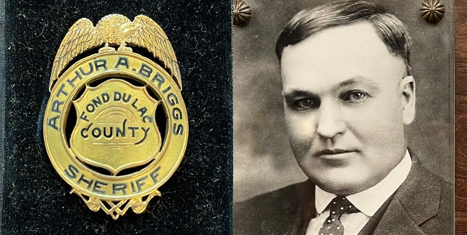 Wisconsin sheriff's badge from 1920s found during move