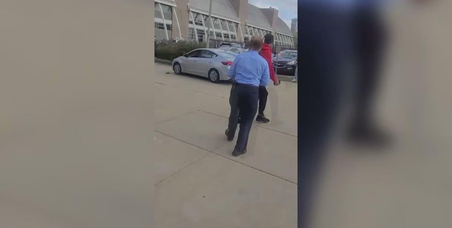 Reckless driving near Bradley Tech High School; police seek suspect