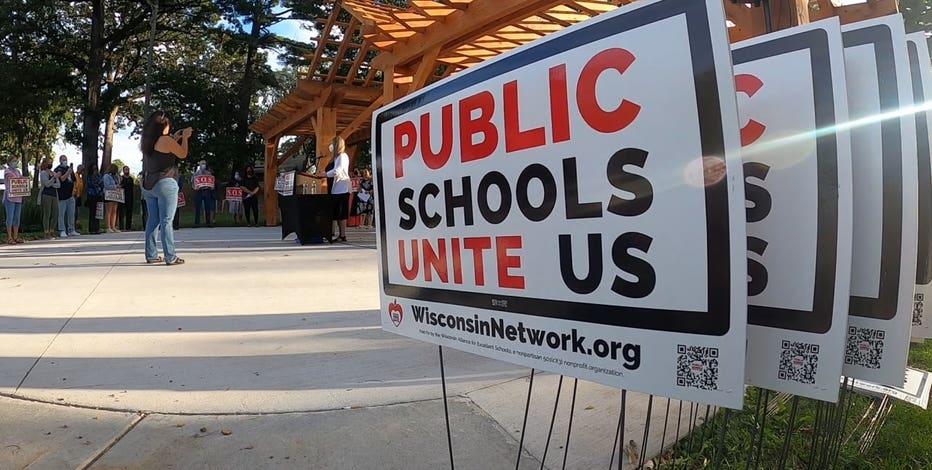 Kenosha school mask vote threats, groups call for unity