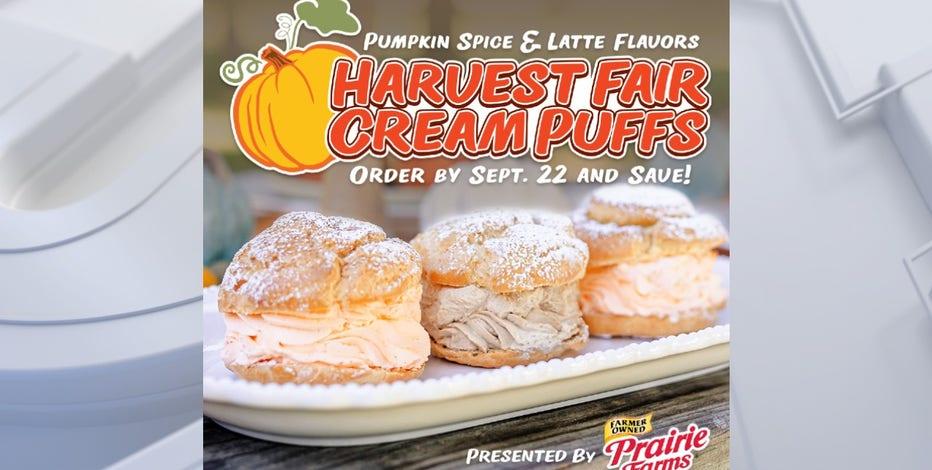 Harvest Fair cream puffs: 2 fall flavors available