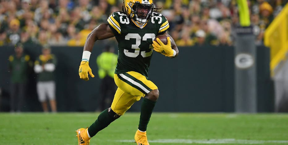 Packers' Aaron Jones reveals he lost chain with father's ashes inside after touchdown