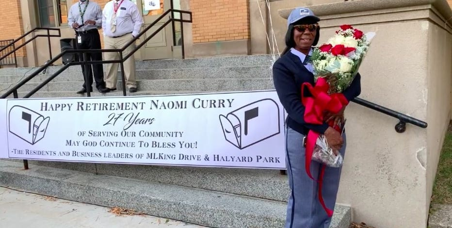 Community send-off for postal worker after 27 years
