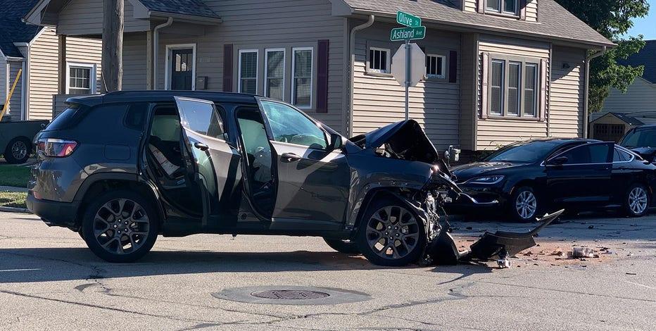 Racine crash, girl flown to hospital with 'severe injury'