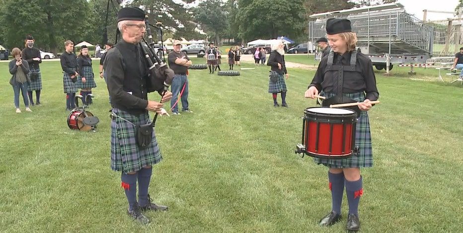 Bagpipers compete at Highland Games in Delafield