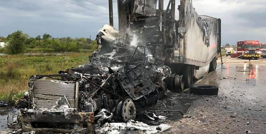 Dane County potato truck fire, no injuries