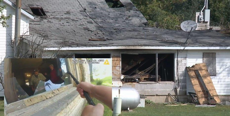 Waupun fire rescue, deputy saved father, son, dog