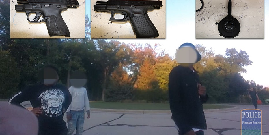 IL teen arrested, Pleasant Prairie officer search turned up handguns