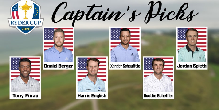 Stricker fills out Ryder Cup US team, includes 4 more rookies