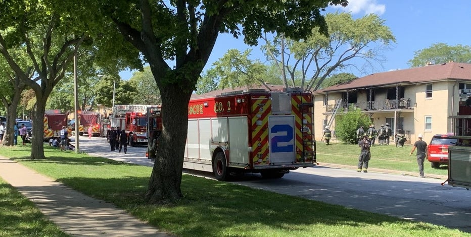 Fire near 84th and Congress in Milwaukee, building damaged