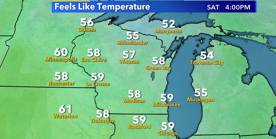 Fall-like temps arrive to end the week, but not for long