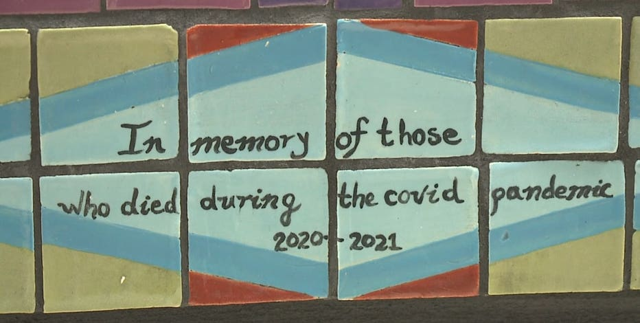 Milwaukee COVID memorial, victims, heroes represented by 1,800 tiles