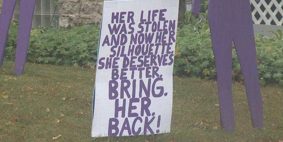Waukesha domestic violence awareness display stolen