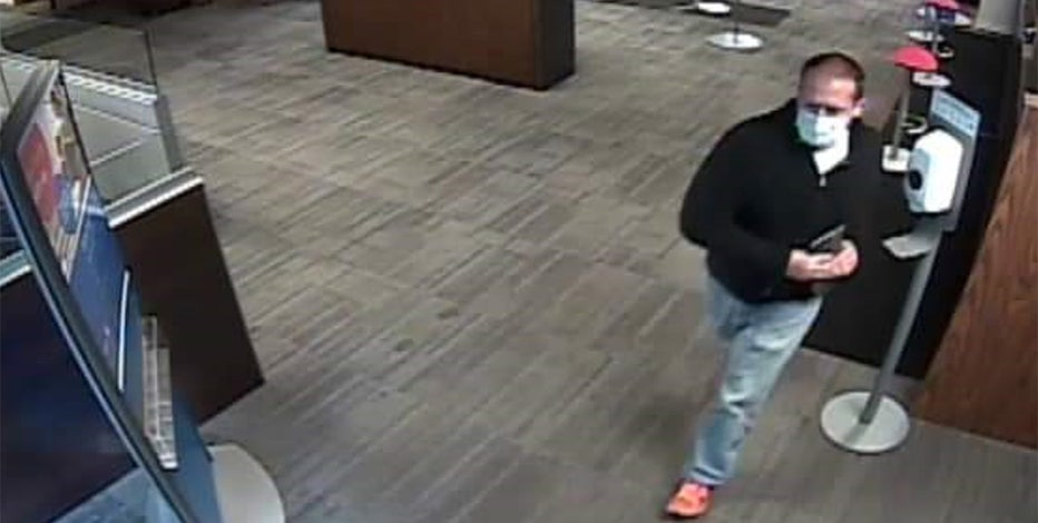 Delavan bank robbery, suspect caught on camera