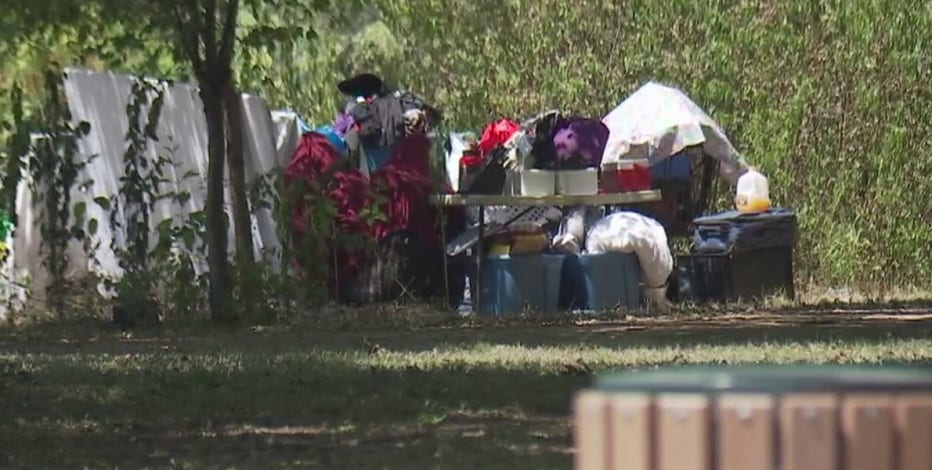 Homeless camps at Gillis Park draw concern