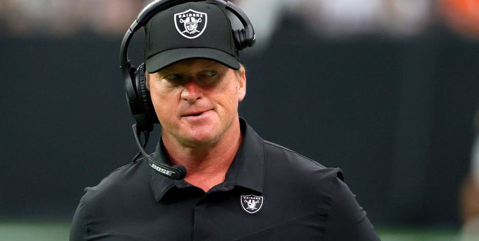 Jon Gruden resigns as Raiders head coach after homophobic, misogynistic emails revealed