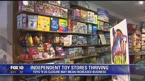 Despite the Toys 'R' Us downfall, independent toy stores are thriving