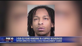 Child found wandering the streets; Surprise man charged