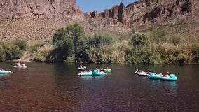 Drone Zone: Tubing down the Salt River