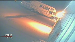 Suspect accused of breaking into 41 storage units, stealing trailer & RV