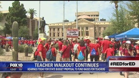Teacher walkout to continue into Wednesday