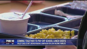 Two dads join forces to launch campaign to pay off school lunch debt