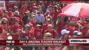 Teachers, supporters expected to continue walk-out on Monday