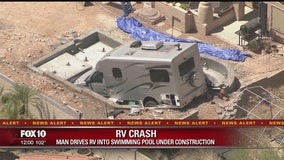 RV crashes into pool under construction in Fountain Hills