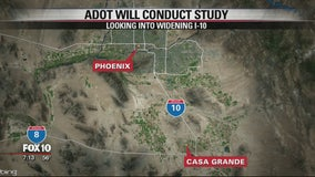 Study planned on widening I-10 between Phoenix, Casa Grande