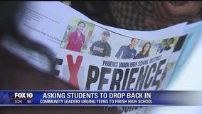 Community leaders urge teens to finish high school
