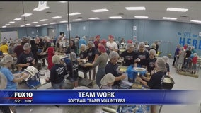 Valley softball team gives back to the community